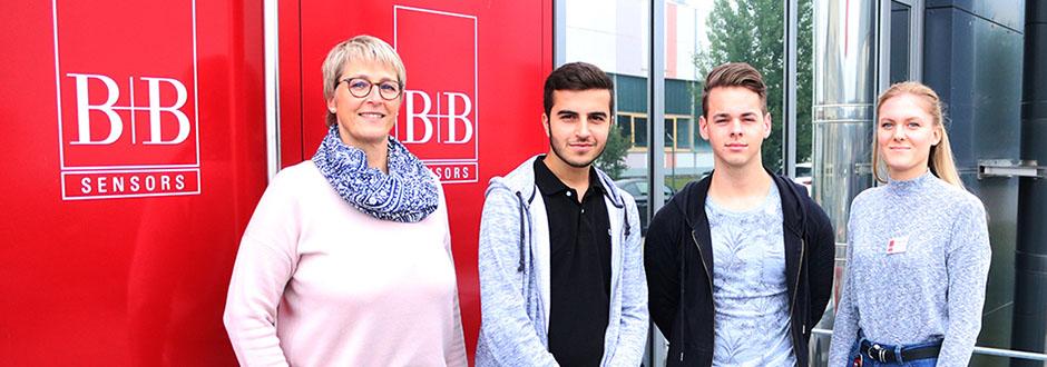 B+B Begrüßt Drei Neue Auszubildende